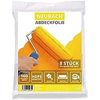 NEUBACH® Afdekfolie [8x] - Schilderfolie 4x5 meter in HDPE kwaliteit - Extra scheurvast perfect voor schilders…