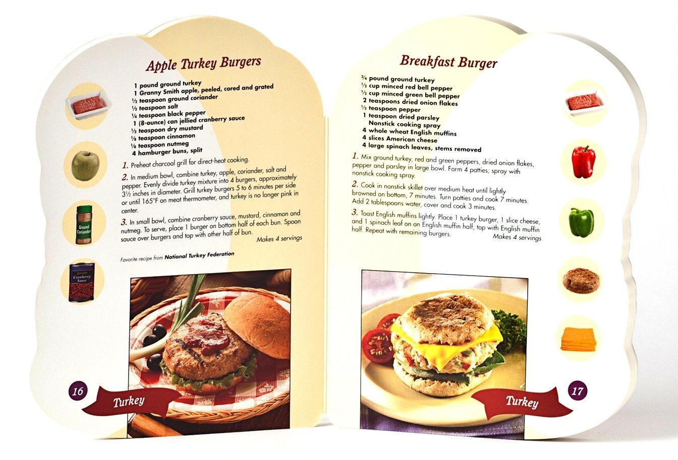 best burgers shaped cookbook editors of publications