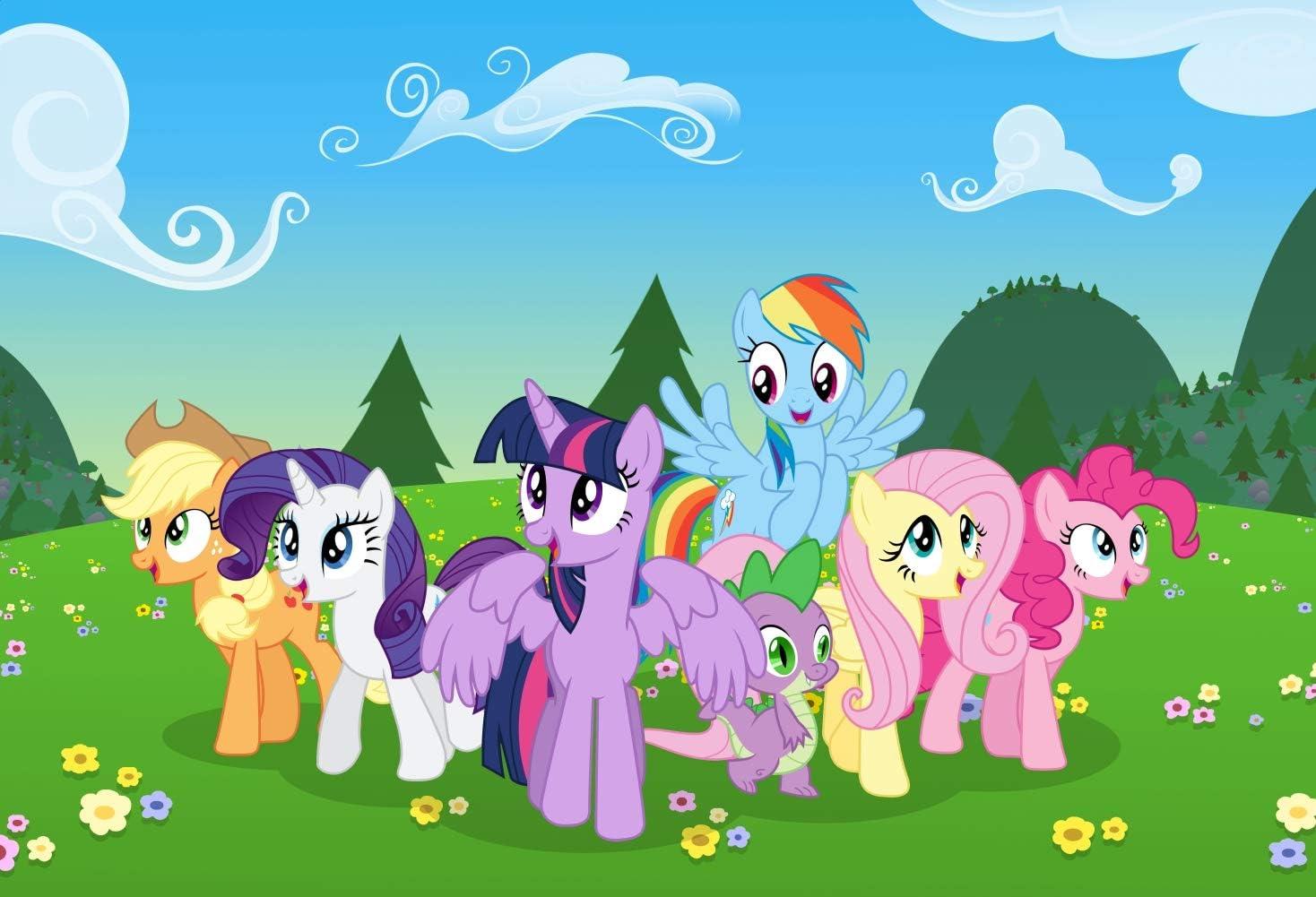 Amazon Com 7x5ft Cartoon My Little Pony Unicorn Photography