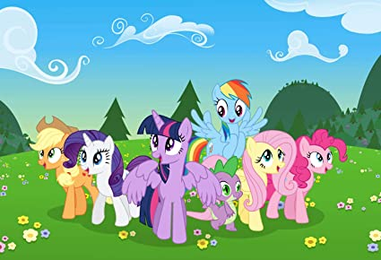 Amazon.com : 7x5ft Cartoon My Little Pony Unicorn Photography ...