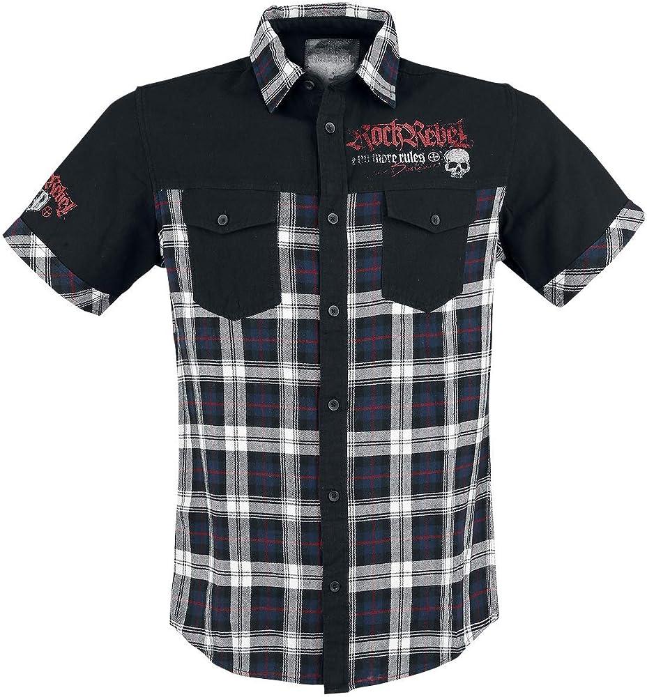 Rock Rebel by EMP Hard Decisions Hombre Camisa Manga Corta Negro XL, 100% algodón, Regular: Amazon.es: Ropa y accesorios