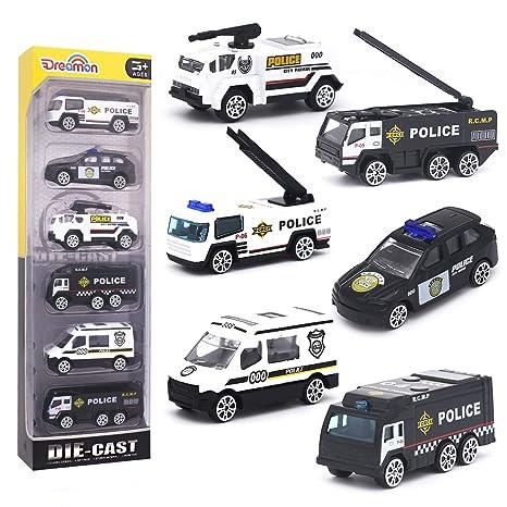 Dreamon Coche de Policia Mini Modelo Construcción Vehículo ...