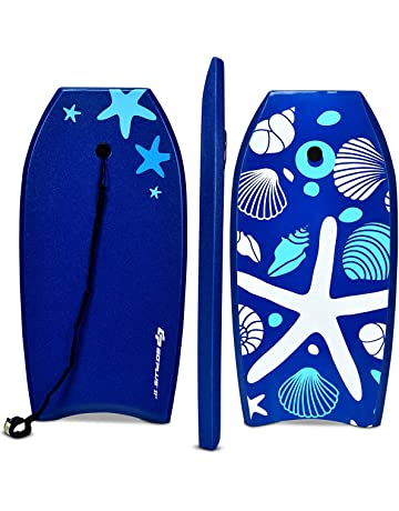 2ced3e1abb Goplus Super Body Board, Lightweight Bodyboard with EPS Core, XPE Deck,  HDPE Slick