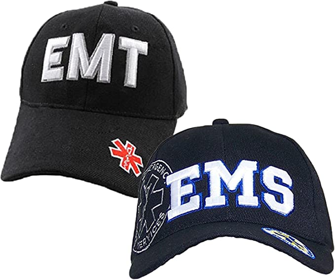62a8a3491a2 Image Unavailable. Image not available for. Color  EMS Emergency Medical  Services   EMT Emergency Medical Technician Baseball Cap Hat