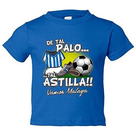 Camiseta niño De tal palo tal astilla Málaga fútbol - Azul ...