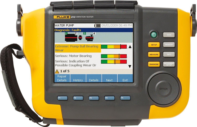 Fluke 810 Handheld Vibration Tester, 0 to 80g Peak Fluke Corporation 3542635