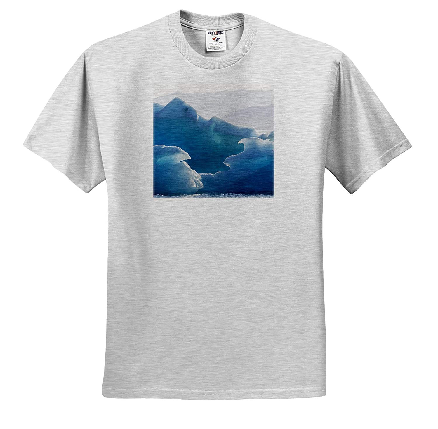 Natural Patterns 3dRose Danita Delimont - Adult T-Shirt XL Blue ice in Icebergs in Greenland ts/_313894