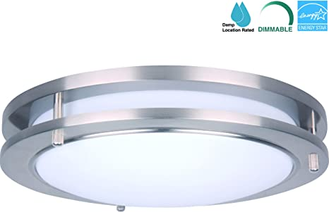 CORAMDEO 15 Inch LED Flush Mount Ceiling Light Fixture, 27.5W ...