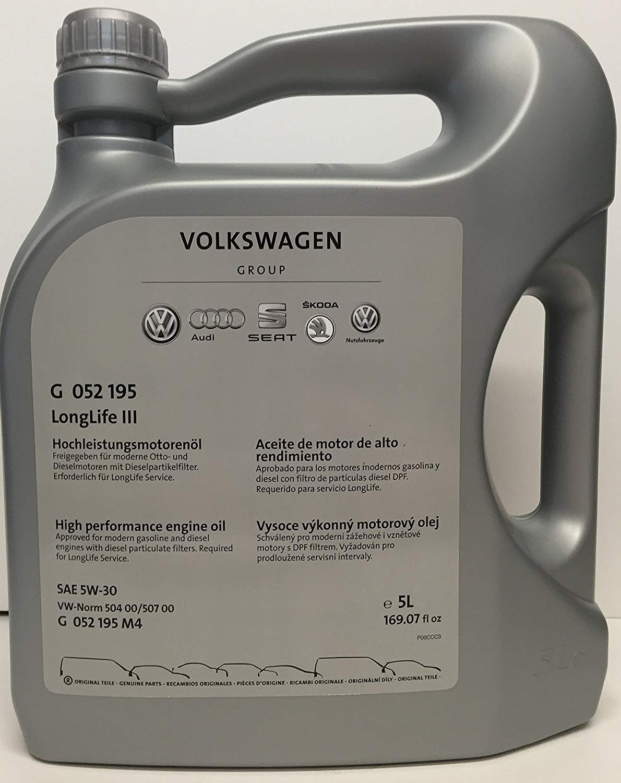 Volkswagen G 052 195 M4 Original LongLife III 5W-30 Aceite de Motor, 5 L