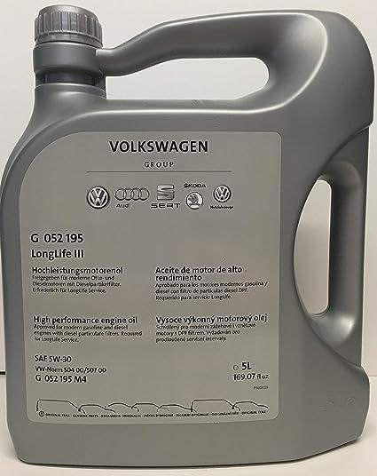 Volkswagen G 052 195 M4 Original LongLife III 5W-30 Aceite de ...