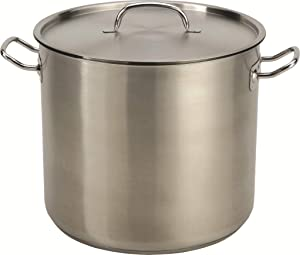 24 Quart Stainless Steel Stock Pot with Lid
