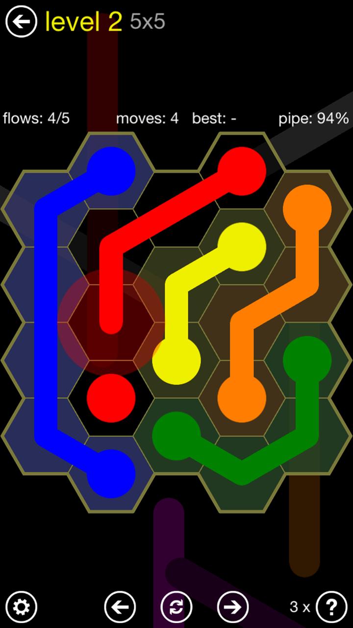 Flow Free Level 14 9x9