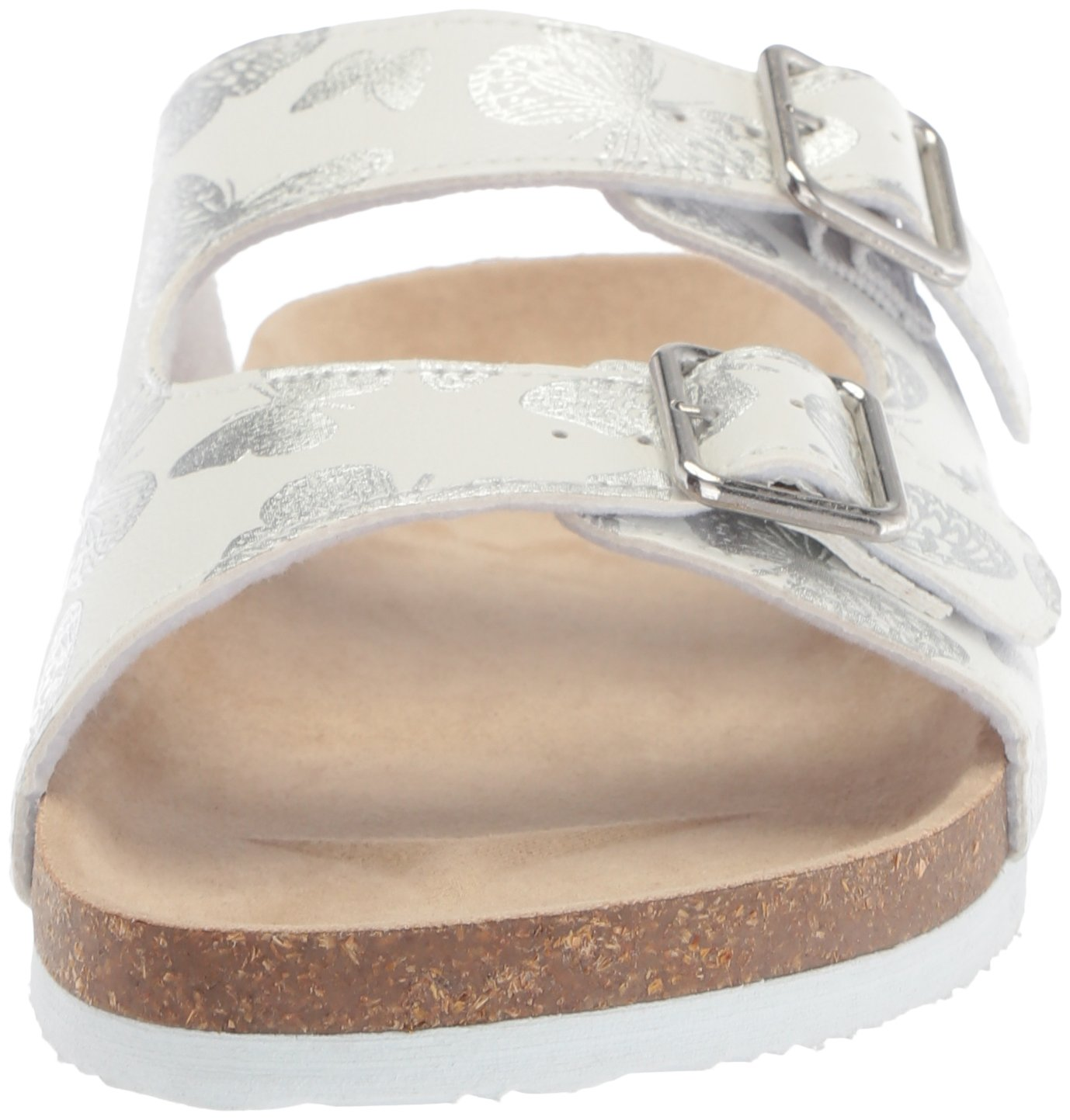 The Children's Place Girls' BG Butterfly LUN Flat Sandal, White, Youth 11 Medium US Big Kid by The Children's Place (Image #4)