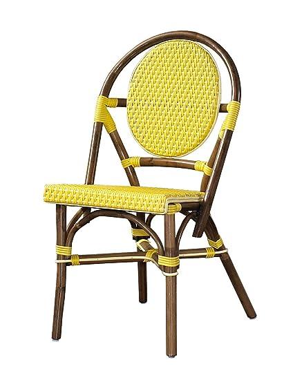 Peachy Padmas Plantataion Paris Bistro Chair Yellow Ibusinesslaw Wood Chair Design Ideas Ibusinesslaworg