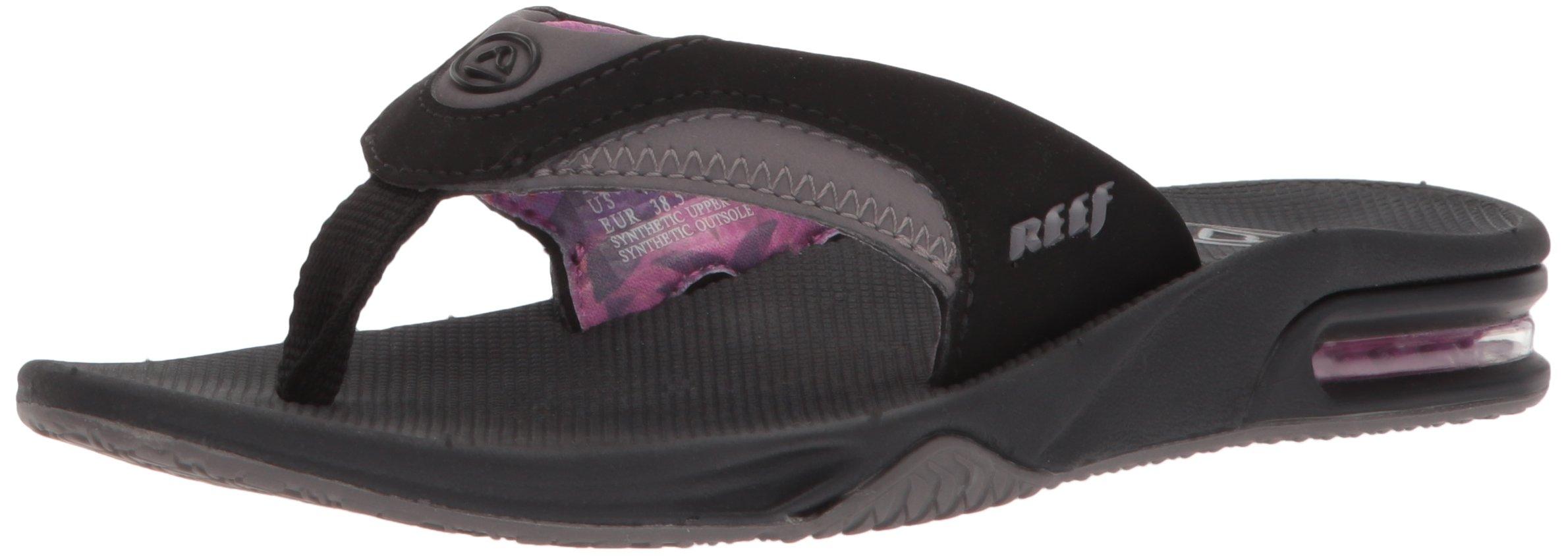 Reef Women's Fanning Sandal, Black/Grey, 9 M US