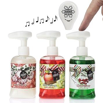 soap soundz set of 3 85oz soap dispenser with musical soap dispenser pump