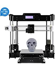 3D Printer Acrylic A8 (Y8) Desktop DIY 3D Printer Self-Assembly Prusa i3 Kit High Precision 3D Printers with LCD Screen 3d Printer Kit, Tigtak (Platform Size 220 * 220 * 240)