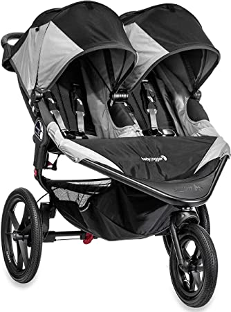 Gray NEW Baby Jogger Summit X3 Twin Double All Terrain Jogging Stroller Black