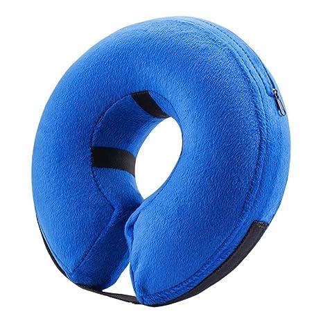 Collar hinchable para mascotas JUNLONG cómodo azul para mascotas ...