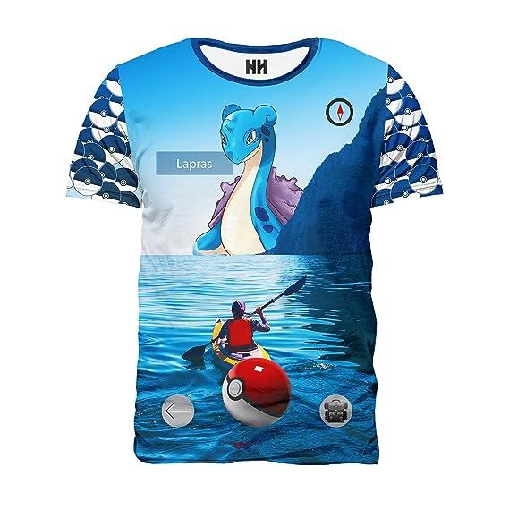 Noorhero - Camiseta de Hombre - Lapras Pokemon Go: Amazon.es: Ropa y accesorios