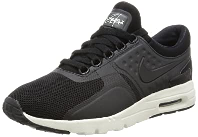 df4bda9566031b Womens Air Max Zero 857661 002 Black Black-Sail Size 5
