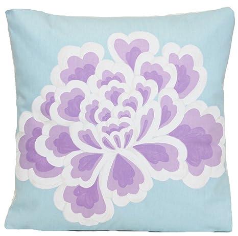 Amazon.com: Lila Flor Decoración Funda de almohada Designers ...