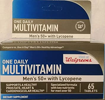Walgreens One Daily Multivitamin Mens 50+ with Lycopene 65 tablets