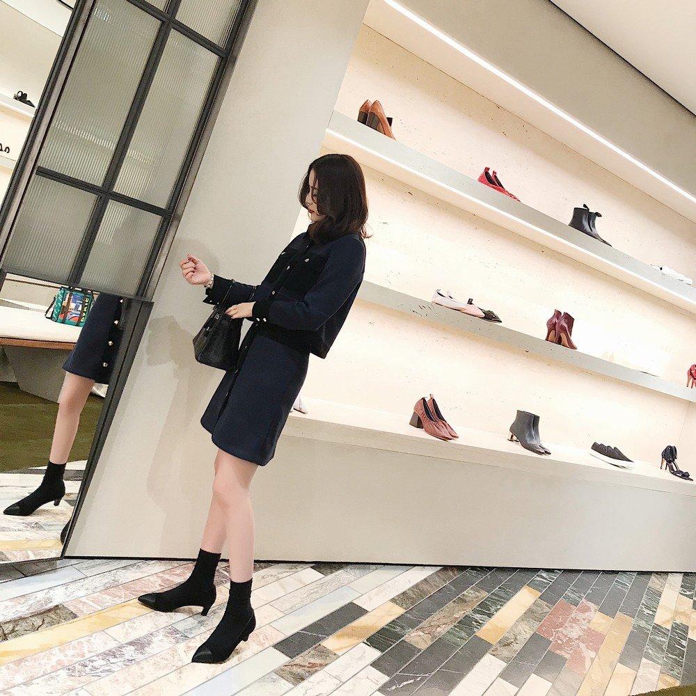 DHG Spleißender Zwerg mit gespitzten Schuhen federt Wirklich Flachen, Schuhen,Schwarz,40 Flachen Mund mit Niedrigen Schuhen,Schwarz,40 Flachen, 343300