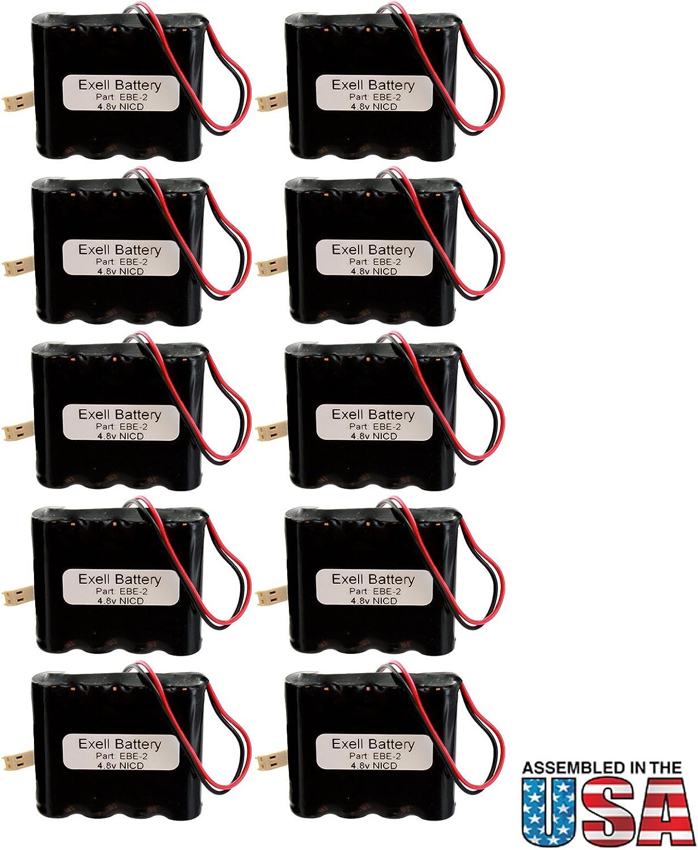 (10-Pack) Emergency/Exit Lighting Battery Fits and Replaces Dual-Lite 0120790 REV B Dual-Lite 0020520T NABC 721259000 Kaufel 850.0060 AA/4 Kaufel 850.006 NIC0754 19353 Dual Lite 12 790 715qUJRibdLSL1500_