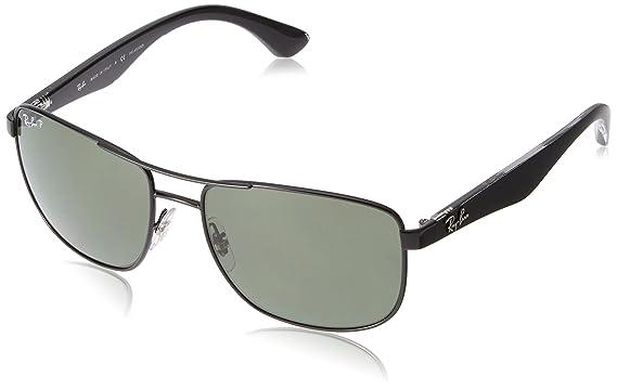 c1f2dff49a ... netherlands ray ban steel man sunglass black frame polar green lenses  57mm polarized 4e3a7 24237