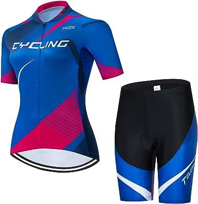 Women/'s Cycling Jersey Bike Short Sleeve Bicycle Clothing Shirt Tops Reflective