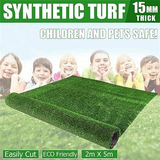 zhaoqing90 2x5m césped sintético Artificial Falso césped plástico Verde Planta césped jardín decoración: Amazon.es: Hogar