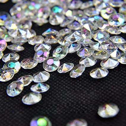 Amazon Craftjoje 8mm 5000pcs Wedding Table Scattering Crystals