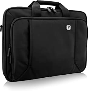 "V7 CCP17-BLK-9N 17"" Professional Front Loading Laptop Case (RFID, Weather Resitant)"