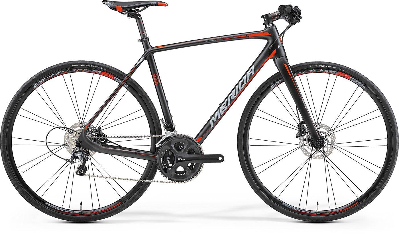 Herren Fahrrad 28 Zoll Trekking schwarz - Merida Speeder 4000 - 22 Gänge carbon rot Crossrad
