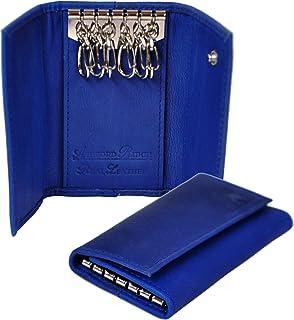 Schlüsseletui Schlüsselmäppchen Echt Leder weich Schlüsselleiste Reißverschluss