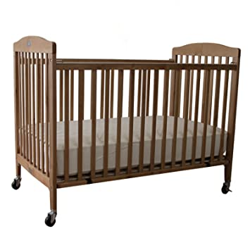 Amazon.com: La bebé Full Size – Plegable Cuna de madera ...