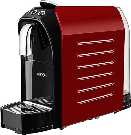 Aicok Cafetera de cápsulas compatible con Nespresso, bomba de alta presión (20 bar), calentador rápido (25