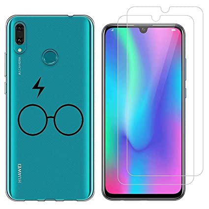 Amazon.com: Huawei Y7 2019 Funda con 2 Pack Cristal ...