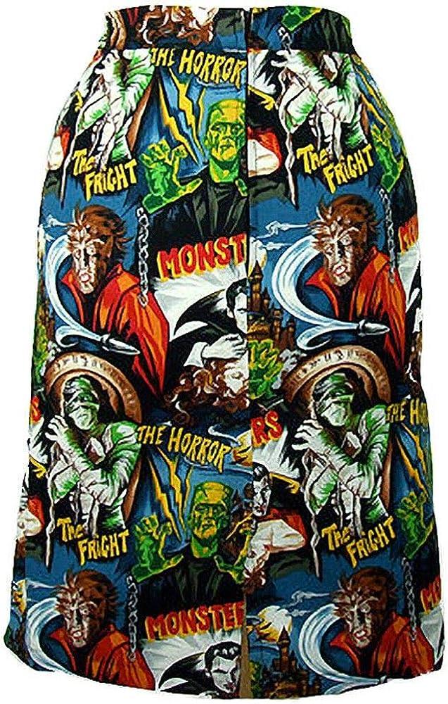 Hemet Falda con diseño de Monstruos de Hollywood de la película de ...