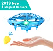 Flying Toys for Kids Mini UFO Drone Hand Operated Drones with 2 Speed, Flying Ball Drone Easy Indoor Outdoor Toys, Great Fly