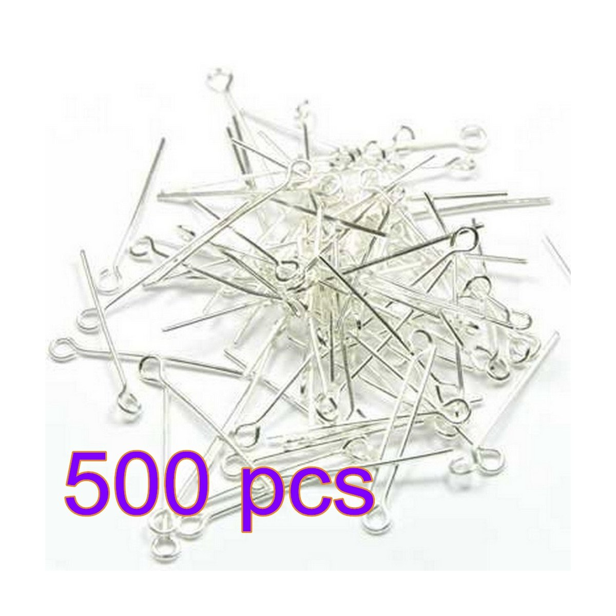 Photovie 25 mm silver Round Head Pin Lot 500 Beaded Needle Round Nead Nails for Beading Tools