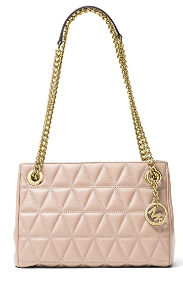b08940ea27e4 MICHAEL KORS Scarlett Quilted Leather Shoulder Bag in Soft PInk: Handbags:  Amazon.com