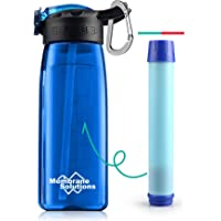 Membrane Solutions Filtered Water Bottles, Portable Water Filter Straw Bottle, BPA Free Water Purification Filtration…