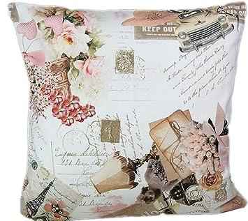 Kissenhülle 50 X 50 Cm Tamara Vintage Nostalgie Baumwolle Kissenbezug Cushion Case Hossner 50 Cm X 50 Cm