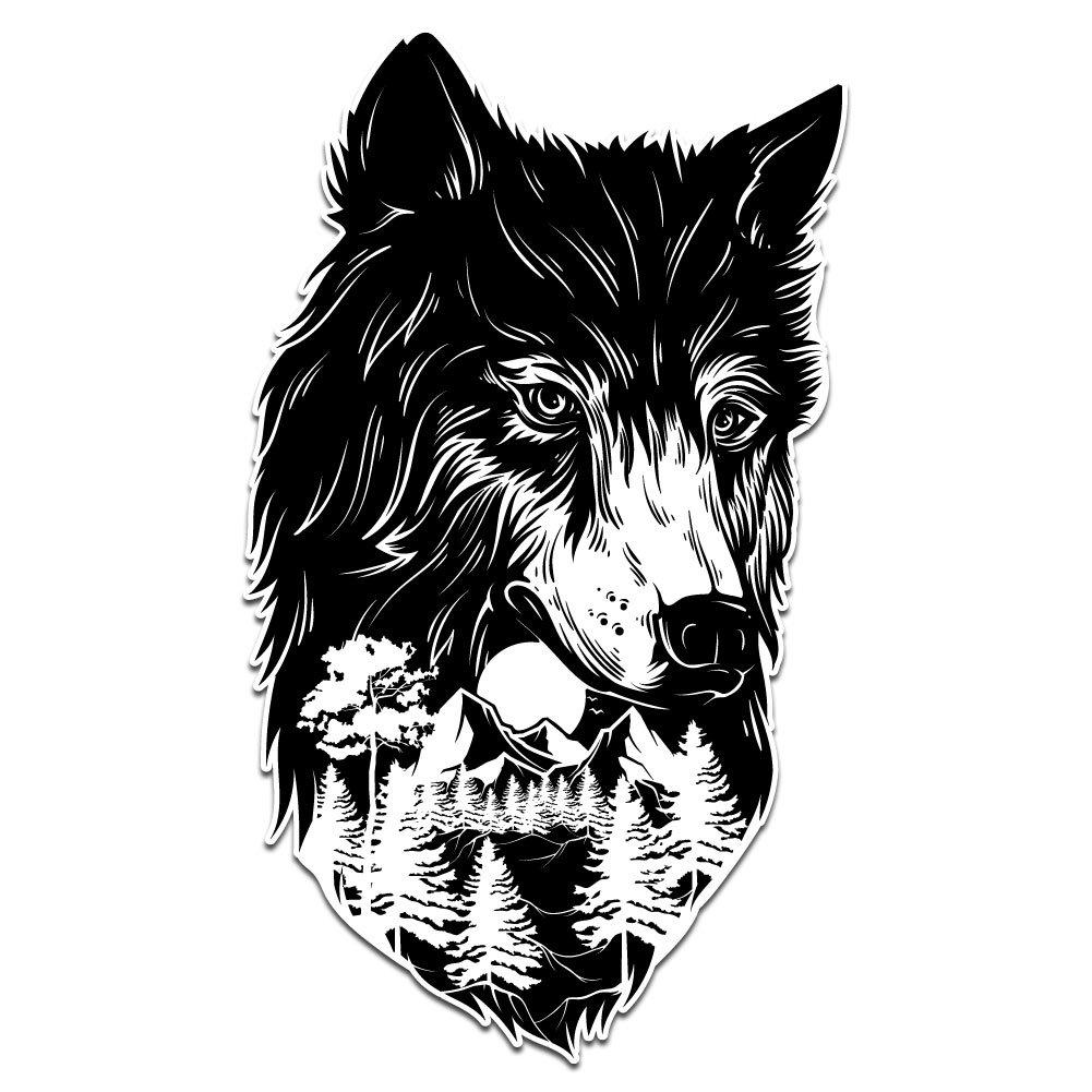 【おすすめ】 フォレストプロテクターWolf 5 – ビニールデカール屋内または屋外の使用、車 5、ノートパソコン、飾り B07B8C65TQ、Windows、and More 5 Inch wolf-forest5 5 Inch B07B8C65TQ, セレクトショップアン:1032fc9a --- a0267596.xsph.ru