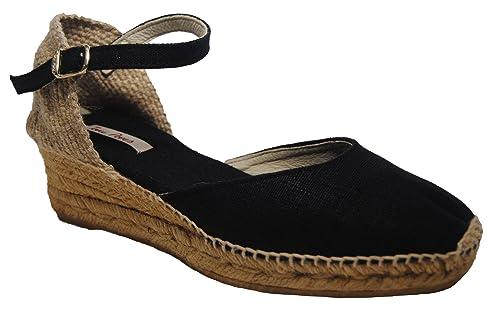 Alpargata Media Cuña con Hebilla para Mujer: Amazon.es: Zapatos y complementos