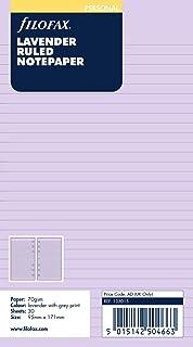 Filofax Personal, Recambio para Agenda de Anillas, Hojas Rayadas para Notas, Color Lavender