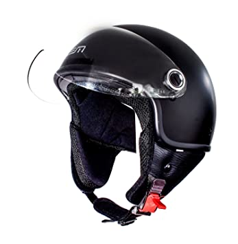 Amazon.es: Casco Moto LEM- Roger Black Powder - NEGRO MATE