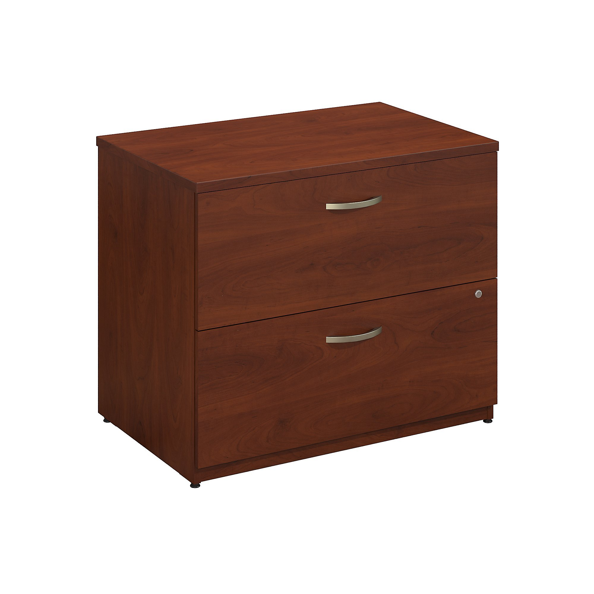 Bush Business Furniture Series C 36W 2 Drawer Lateral File in Hansen Cherry by Bush Business Furniture